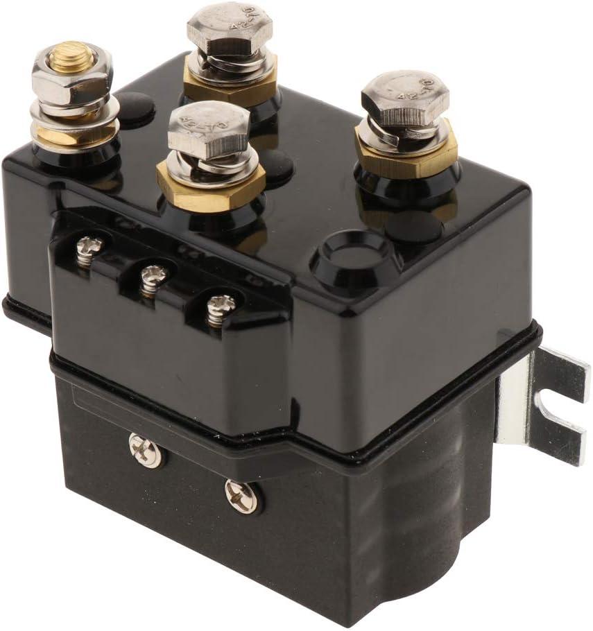 KESOTO Solenoide de Repuesto de Cabrestante Universal 500A para Vehículos con Cabrestante Eléctrico ATV UTV 4x4