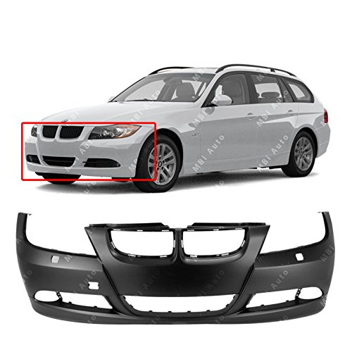Bmw 330i Front Bumper - MBI AUTO Primered, Front Bumper Cover Fascia for 2006-2008 BMW 325i 328i 330i 335i 3 Series Sedan & Wagon 06-08, BM1000179
