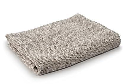 Linen Fashion Grey Pure Linen Waffle Weave Bath Towel