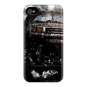 Bumper Hard Cell-phone Case For Iphone 4/4s With Support Your Personal Customized Stylish Toyota Hilux Monster Truck Pictures InesWeldon
