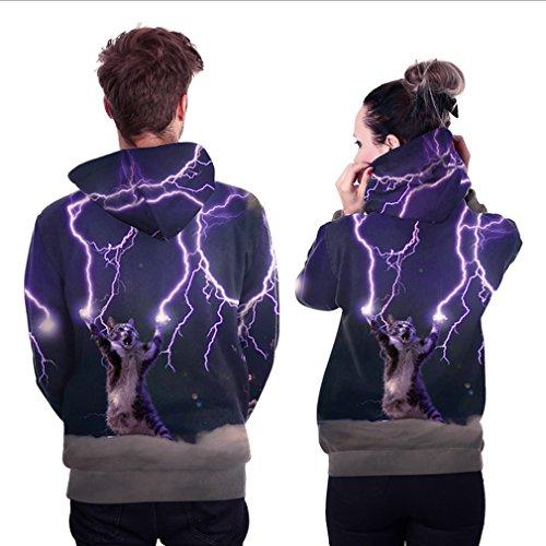 Belsen - Sudadera con capucha - para mujer Lightning cat