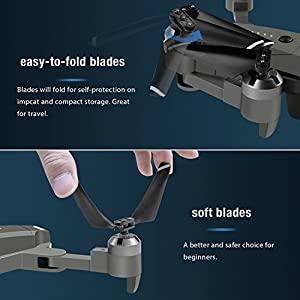 Drones Blades for Fansteck Drones with Camera Foldable Drone RC Quadcopter kit - Grey Blades by Fansteck