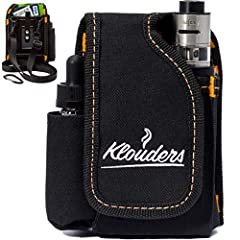 FIVE REASONS FOR CHOOSING KLOUDERS VAPE BAG   ★ Versatile Design - 4 comfy pockets in vape holster give you the ability to put your favorite vape accessories or phone and wallet in one organized place.  ★ Rugged Protection - durable material ...