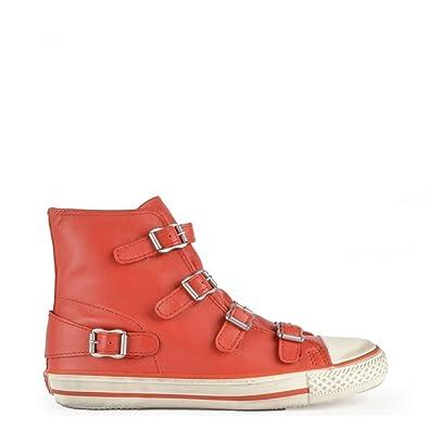 6efbc5ba29f1d Ash Footwear Virgin Coral Leather Buckle Trainer 41EU 8UK Coral ...