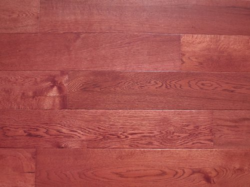 5 x 5/8 3-Layer (All Solid) Engineered Hardwood Oak Merlot Flooring (6 inch Sample) Merlot Hardwood Flooring