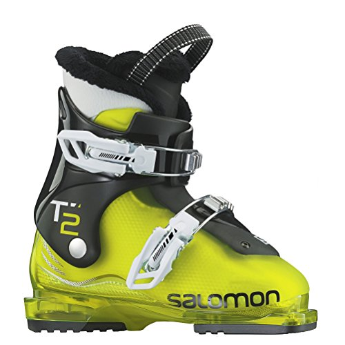 Salomon T2 RT Ski Boot - Kids Acid GreenBlack 21.0