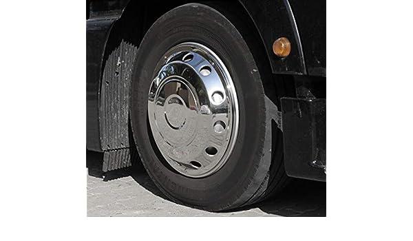 Camiones Tapacubos 22,5 Encorvada Acero Inoxidable: Amazon.es: Coche y moto