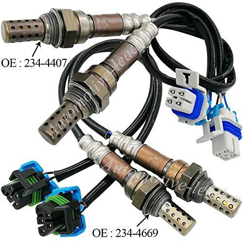 Automotive-leader 4pcs 234-4669+234-4407 Upstream Downstream Oxygen Sensor Lambda Sensor for 2003-2006 GMC Yukon Sierra 1500 2500 3500 H2 6.0L; for Chevrolet Escalade Silverado 1500 2500 H2 6.0L ()