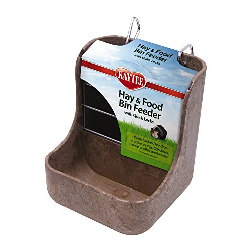 Kaytee Hay n Food Bin Feeder with Quick Locks (Chinchilla Food Kaytee)