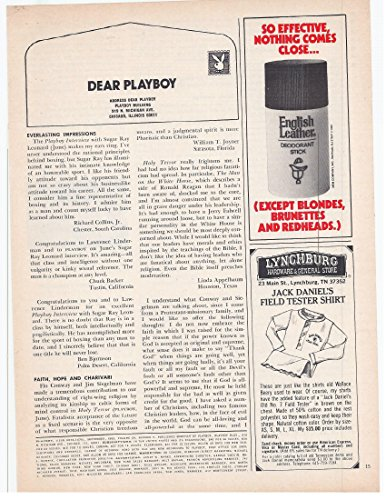 English Deodorant Stick Leather (1982 Vintage Magazine Advertisement English Leather Deodorant Stick)