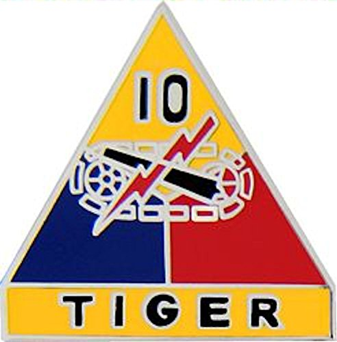 10th Armored Division Small Hat Pin (Armored Division Small Hat Pin)