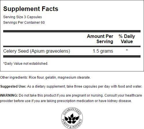 Swanson Celery Seed Extract - Maximum Strength 500 mg 180 Caps by Swanson (Image #1)