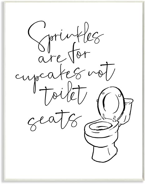 Amazon Com Stupell Industries Sprinkles Funny Ink Drawing Bathroom Design By Milli Villa Art 10 X 15 Wall Plaque Home Kitchen