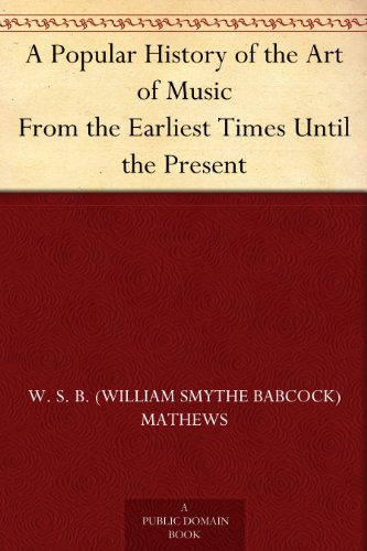 A Popular History of the Art of Music From the Earliest Times Until the Present (English Edition)
