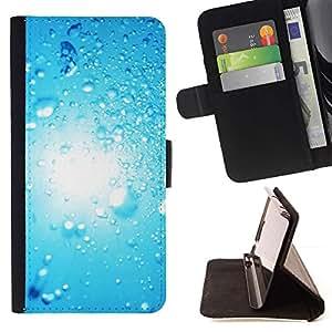 Momo Phone Case / Flip Funda de Cuero Case Cover - Blue Water Drop 2 - Sony Xperia M4 Aqua