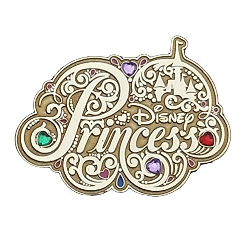 Disney Parks Jeweled Princess Logo Pin # 96890