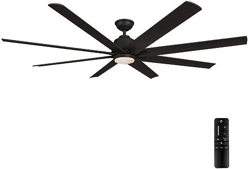 Home Decorators Collection Kensgrove 72 in. LED Indoor/Outdoor Matte Black Ceiling Fan