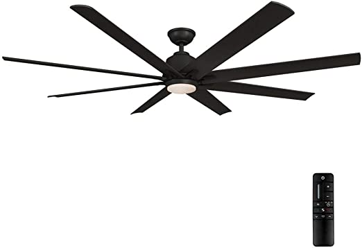 Amazon Com Home Decorators Collection Kensgrove 72 In Led Indoor Outdoor Matte Black Ceiling Fan With Light And Remote Control Kitchen Dining