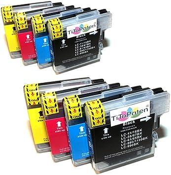 8x Brother Dcp 195c Kompatible Druckerpatronen Cyan Gelb Magenta Schwarz Bürobedarf Schreibwaren