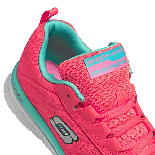 Skechers Flex AppealSweet Spot - Zapatillas de material sintético mujer Rosa (HPTQ)