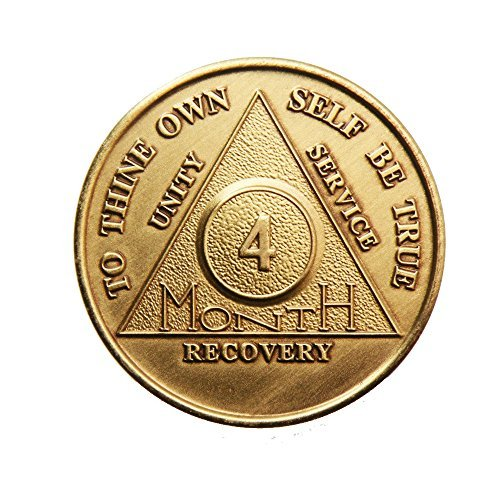 4 Month Bronze AA (Alcoholics Anonymous) - Sober / Sobriety / Birthday / Anniversary / Recovery / Medallion / Coin / Chip