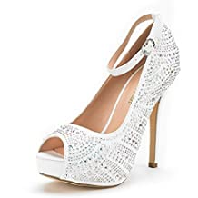 DREAM PAIRS Women's Swan-10 High Heel Plaform Dress Pump Shoes