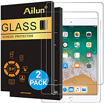 Ailun Screen Protector Compatible New iPad 9.7 inch 2017//2018 model,iPad Air 1,iPad Air 2,iPad Pro 9.7 ,Tempered Glass, Anti-Scratch,Case Friendly-Siania Retail Package Apple Pencil Compatible 2Pack
