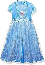 Disney Girls' Frozen Fantasy Nightgown Princess Elsa Dress Pa