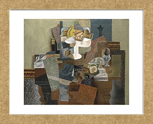 McGaw Graphics Still Life with Compote and Glass, Winter 1914-15 by Pablo Picasso Framed Print, 16x13x1, Multi (Art Compote Glass)