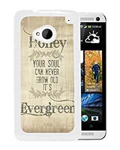 Fashionable Custom Designed Cover Case For HTC ONE M7 With ed sheeran thinking out loud lyrics White Phone Case