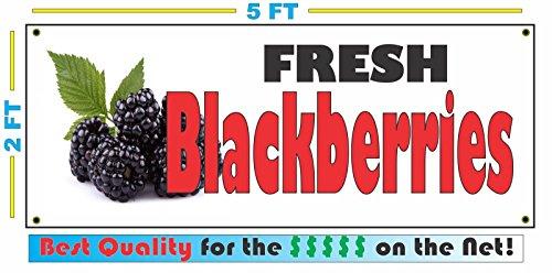 FRESH BLACKBERRIES All Weather Full Color Banner - Blackberry Full