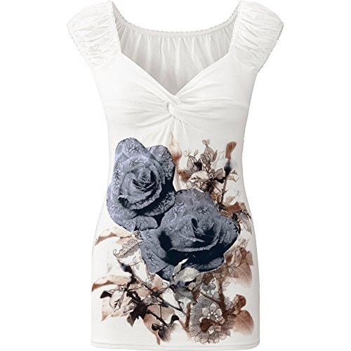 (Women's Floral Tank Tops,Cinsanong Sales! Ladies Summer Print Sleeveless Vest Loose Fashion V Neck Camisole Gray)