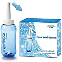 Raicy Sinus Rinse Bottle, Nasal Wash Nasal Irrigation 10oz 300ml with 2 Tips for Adults Child