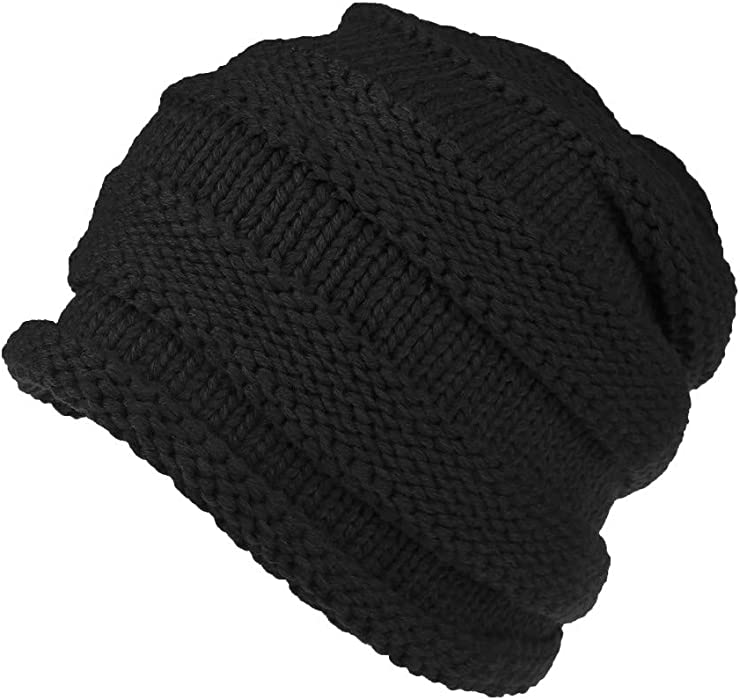 iYBUIA Winter Men Women Baggy Warm Crochet Wool Knit Ski Beanie Skull  Slouchy Caps Hat( aff3503a84