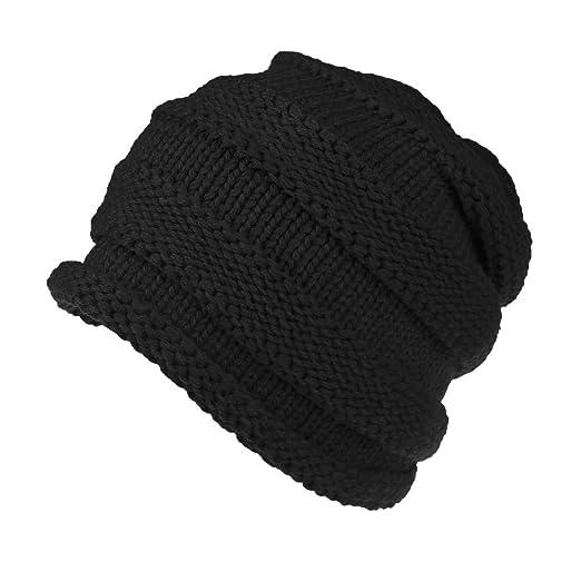 b5e49112a33 TWGONE Womens Caps Baggy Warm Crochet Winter Wool Knit Ski Beanie Skull  Slouchy Caps Hat(