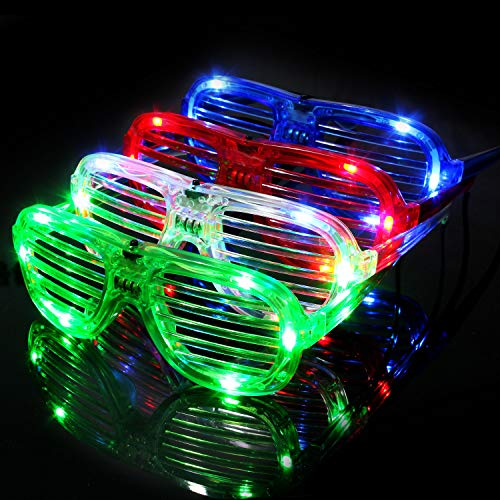 M.best Unisex Fashion Plastic Glow LED Light Up Shades Toy Glasses for Christmas Halloween Wild Clubbing Birthday Party Favors Supplies