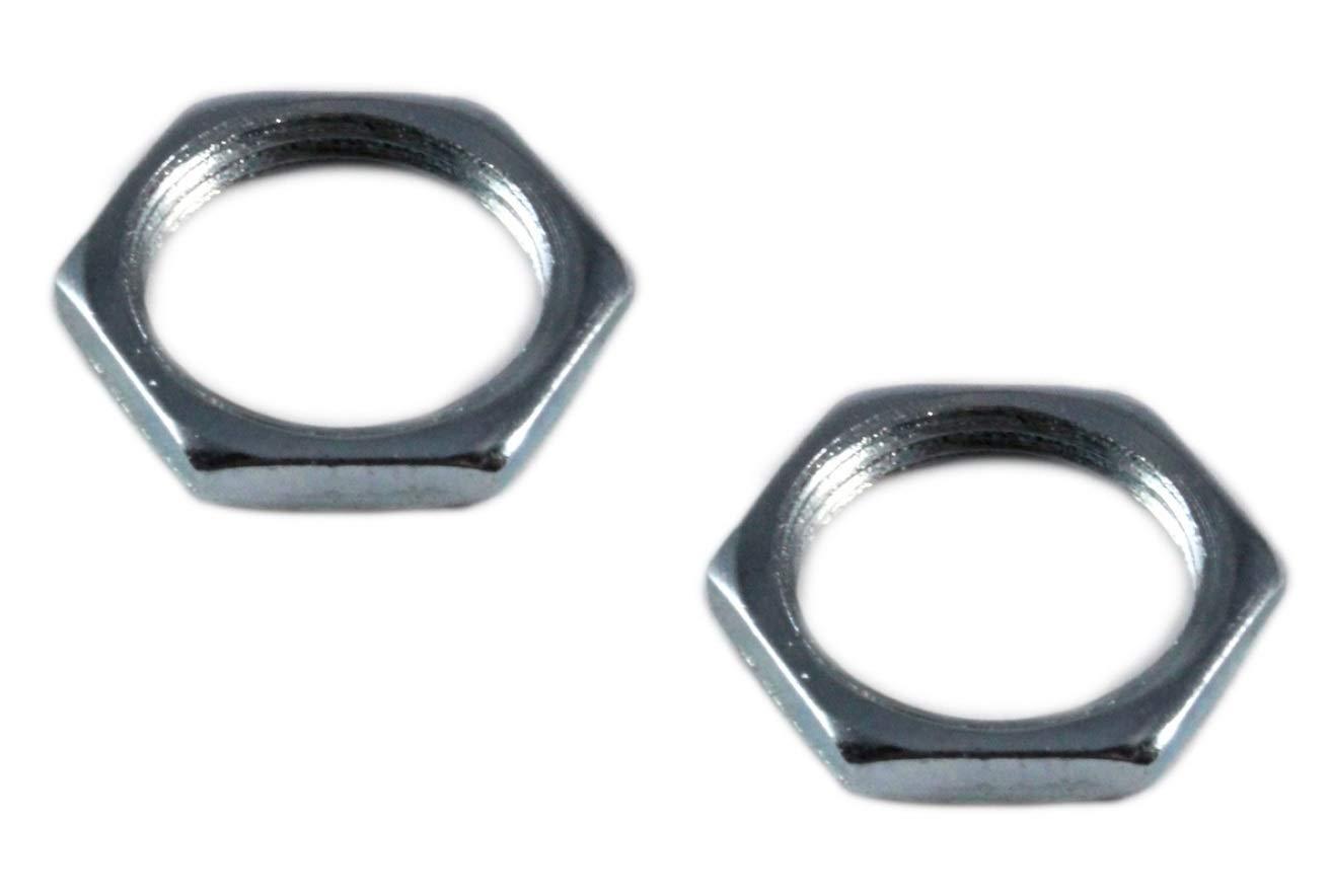 M6 x 0.5mm Extra Fine Thread 2 Pack Jack Plug Socket Retaining Nut