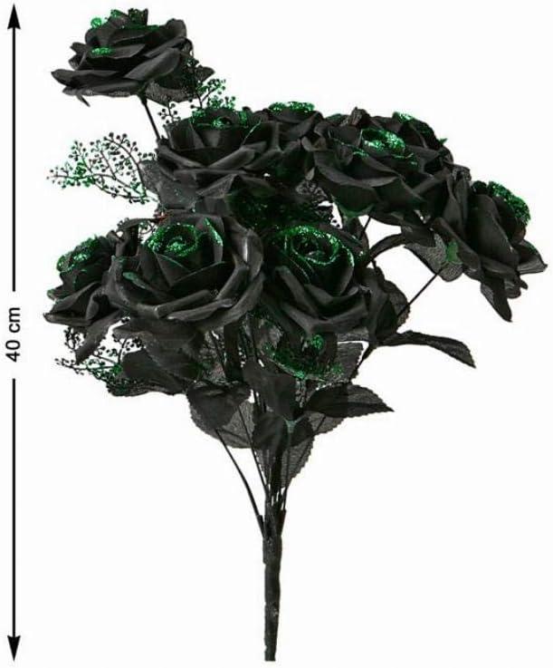 CREATIVE Negro Manojo de Rosas con Green Gli