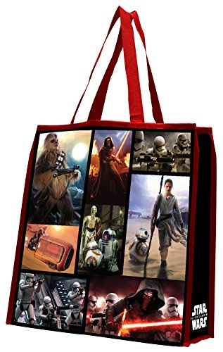 [Star Wars: The Force Awakens Large Recycled Shopper Tote Bag 14 x 15in] (Recycled Material Costume)