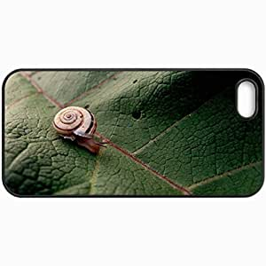 Customized Cellphone Case Back Cover For iPhone 5 5S, Protective Hardshell Case Personalized Snail Black