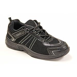 Orthofeet 611 Men's Comfort Diabetic Therapeutic Extra Depth Shoe Orthofeet 611 Montery Bay Men's Comfort Diabetic Extra Depth ShoeBlack 9.5 Medium (D) Lace