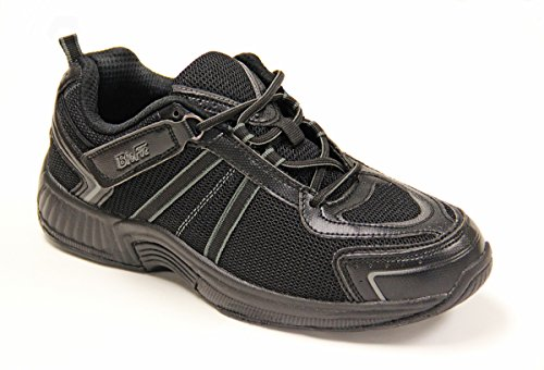 Orthofeet 611 Mens Comfort Diabetic Therapeutic Extra Depth Shoe Orthofeet 611 Montery Bay Mens Comfort Diabetic Extra Depth Shoeblack 12 Wide  2E  Lace
