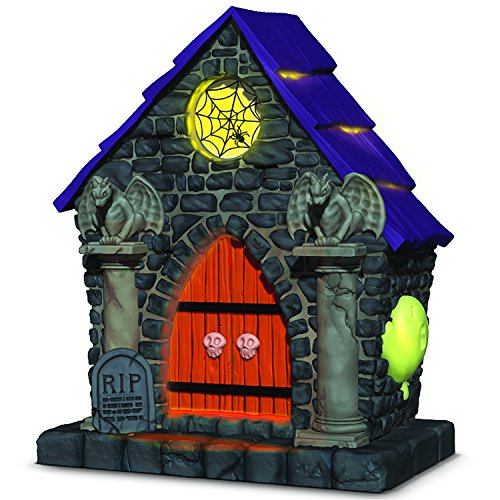 Hallmark Keepsake Halloween Decor Ornament 2018 Year Dated, Haunted House Ghostly Mausoleum With Music and Light -