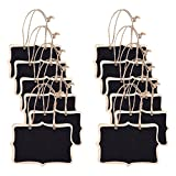 Mini Chalkboard Signs Double-Sided 12pcs, TankerStreet Hanging Chalkboard/Message Board Tags Decorations Place Cards Table Signs, Blackboard with Strings Attached for Wedding Kitchen Door Shop Gift Decal