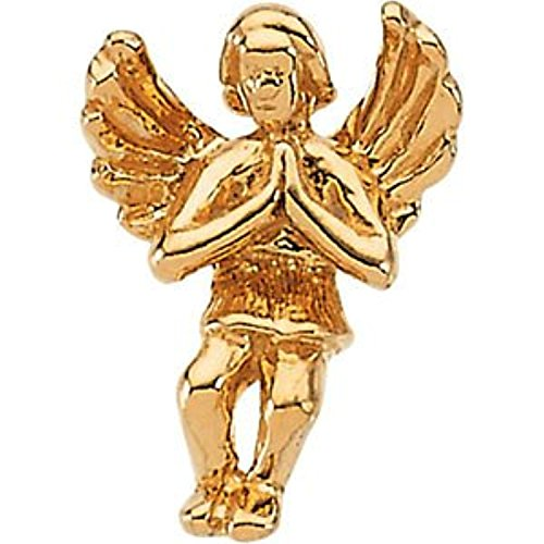 14K Yellow Gold Praying Angel Lapel ()