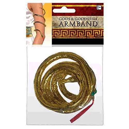 Snake Goddess Costume (Amscan Gracious Gods and Goddess Snake Armband Party Accessory, Gold, One Size)