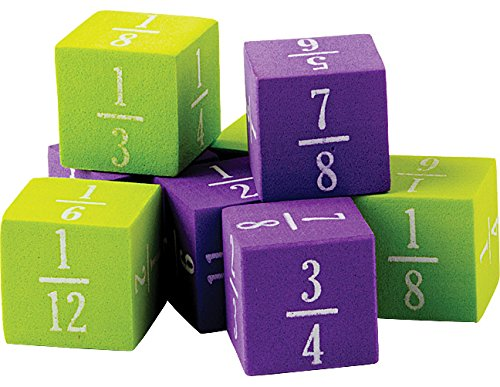 Teacher Created Resources Foam Fractions Dice (20689)
