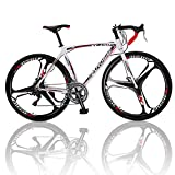 10. Outroad Road Bike 700c 14 Speed 26 inch 3 Spoke Commuter Bicycle (Black and White)