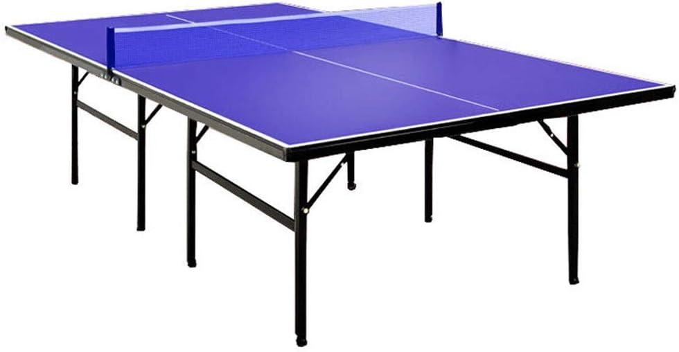 LiChenYao Mesa De Tenis De Interior De Tamaño Mediano para Niños, Juego De Mesa De Ping Pong Plegable Portátil con Red Y 2 Paletas Y 3 Pelotas para Uso En Interiores/Exteriores