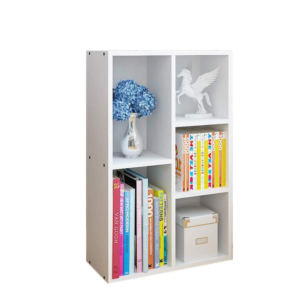 White 5 grids JCAFA Shelves Bookcases Book Organizer Heavy Duty Bookcase Shelf Unit Multi Use Display Storage Display Rack,6 Types (color   White, Size   5 grids)